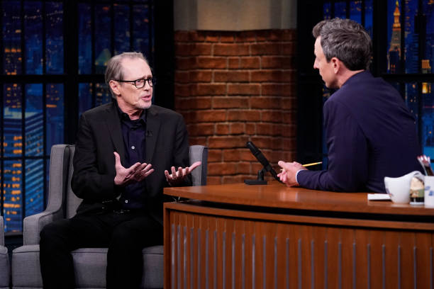 "NY: NBC'S ""Late Night With Seth Meyers"" With Guests Steve Buscemi, Zosia Mamet, Noah Kahan"