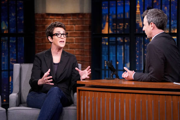 "NY: NBC'S ""Late Night With Seth Meyers"" With Guests Rachel Maddow, Julio Torres, Ana Fabrega & Fred Armisen"