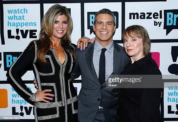 Episode 848 -- Pictured: Ana Quincoces, Andy Cohen, Camille Paglia --