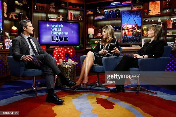 Episode 848 -- Pictured: Andy Cohen, Ana Quincoces, Camille Paglia --