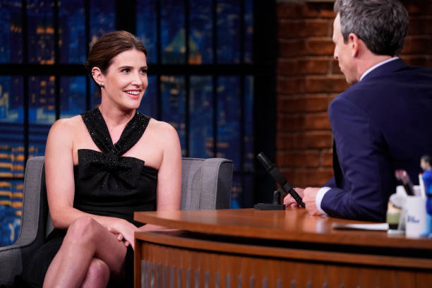 "NY: NBC'S ""Late Night with Seth Meyers"" With Guests Kevin Bacon, Cobie Smulders, Jordan Klepper (Band Sit In: Jessica Burdeaux)"