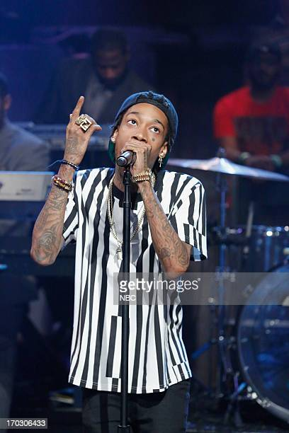 Musical guest Wiz Khalifa performs on June 10 2013