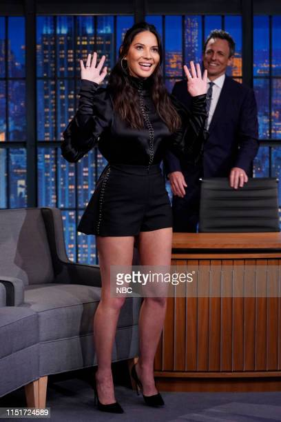 Episode 852 -- Pictured: Actress Olivia Munn arrives on June 24, 2019 --