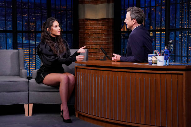 """NY: NBC'S """"Late Night With Seth Meyers"""" With Guests Olivia Munn, Ramy Youssef, Matt Maeson (Band Sit In: Jon Wurster)"""