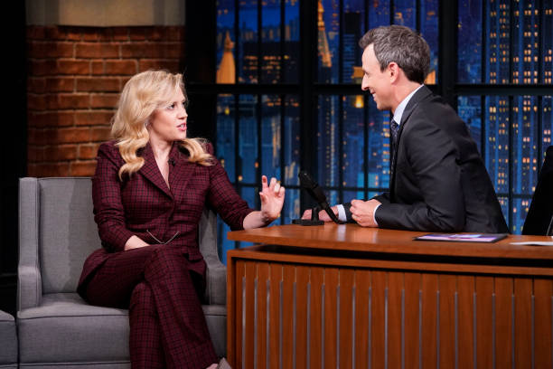 "NY: NBC's ""Late Night With Seth Meyers"" LIVE SHOW With Guests Kate McKinnon, Rep. Pramila Jayapal (Band Sit In: Jon Wurster)"
