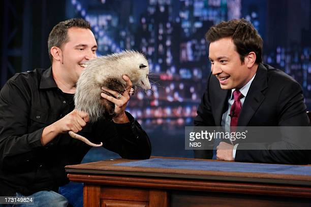 Zoologist Jeff Musial with host Jimmy Fallon during an interview on July 8 2013