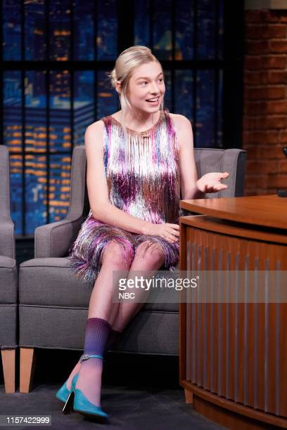 Actress Hunter Schafer during an interview with host Seth Meyers on July 23 2019