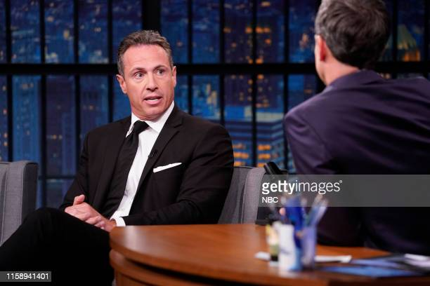 CNN's Chris Cuomo during an interview with host Seth Meyers on August 1 2019