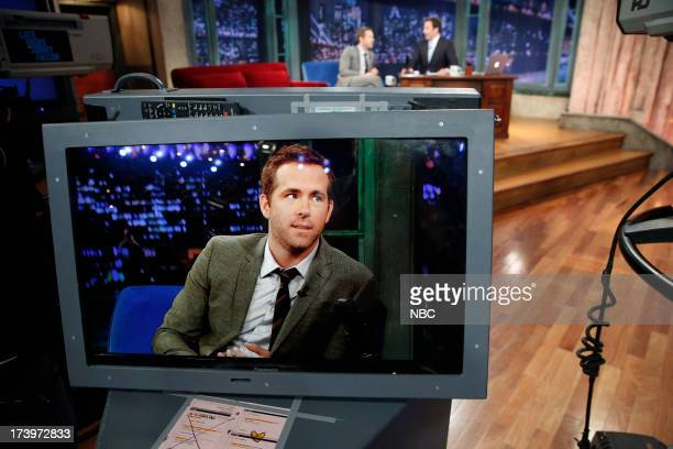 Ryan Reynolds with host Jimmy Fallon during an interview on July 18 2013