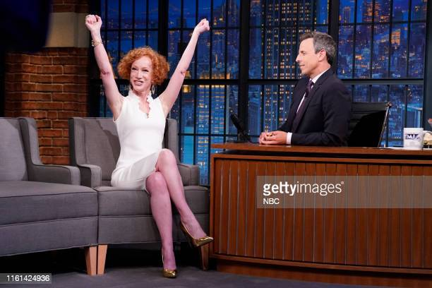 Comedian Kathy Griffin during an interview with host Seth Meyers on August 8 2019