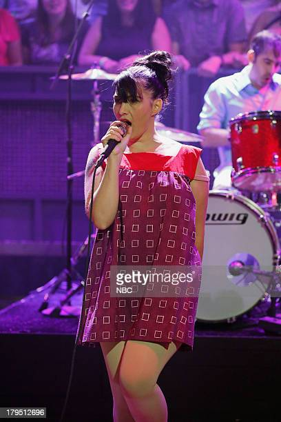 Musical guest Kathleen Hanna of The Julie Ruin performs on September 04 2013