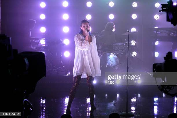 Musical guest Tove Lo performs on September 18 2019