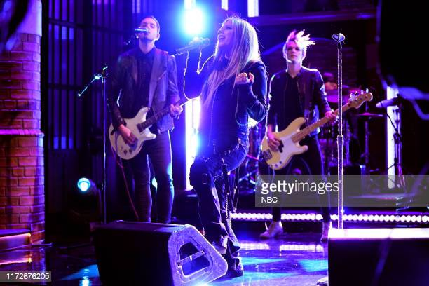 Musical guest Avril Lavigne performs on September 30 2019