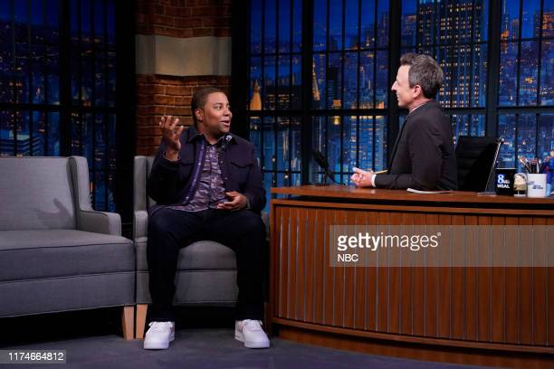 Comedian Kenan Thompson during an interview with host Seth Meyers on October 8 2019