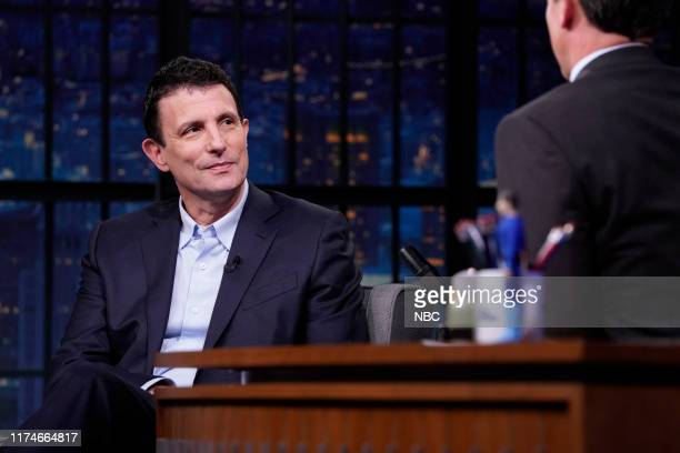 Editor of The New Yorker David Remnick during an interview with host Seth Meyers on October 8 2019