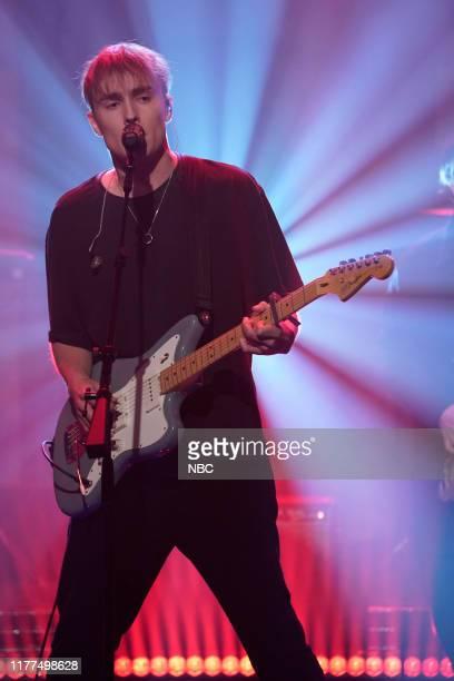 Musical guest Sam Fender performs on October 10 2019