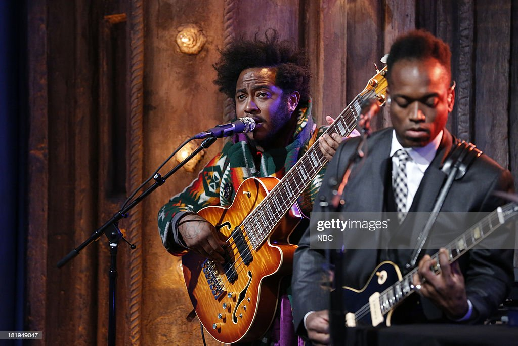 Musical guest Thundercat performs with The Roots on September 26, 2013--