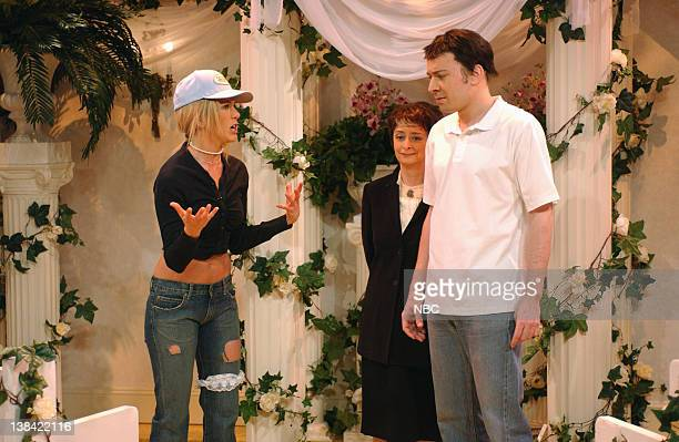 LIVE Episode 9 Air Date Pictured Jennifer Aniston as Britney Spears Rachel Dratch as the priest Jimmy Fallon as Jason Alexander during the 'Britney's...