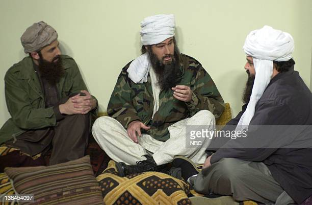 LIVE Episode 9 Air Date Pictured Seth Meyers as Taliban soldier Will Ferrell as Osama bin Laden Horatio Sanz as Shaykh AlGhamdi during the CBS News...