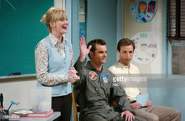 LIVE Episode 9 Aired Pictured Amy Poehler as teacher Jeff Gordon as Captain Jack Kelly Seth Meyers as Glenn Corbin during 'Career Day' skit on...
