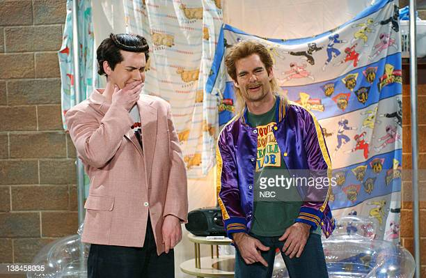 LIVE Episode 9 Aired Pictured Chris Parnell as Terrye Funck Jeff Gordon as Rickye Funck during 'The Terry Funck Hour' skit on January 11 2003