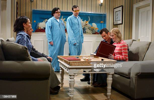 LIVE Episode 9 Aired Pictured Maya Rudolph as Gina Horatio Sanz as Bobby Jimmy Fallon as repairman Jeff Gordon as Roger Amy Poehler as wife during...
