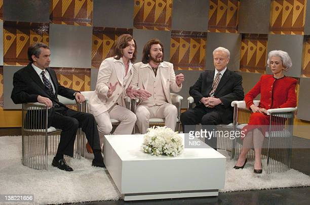 LIVE Episode 9 Aired Pictured Fred Armisen as Thomas Friedman Justin Timberlake as Robin Gibb Jimmy Fallon as Barry Gibb Darrell Hammond as Jimmy...