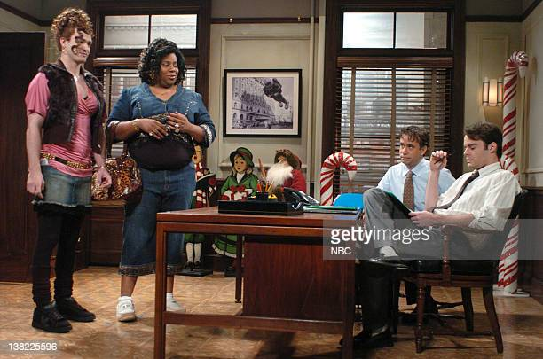 LIVE Episode 9 Aired Pictured Justin Timberlake as Shelby Hastings Kenan Thompson as Virginiaca Hastings Fred Armisen as agent Bill Hader as agent...
