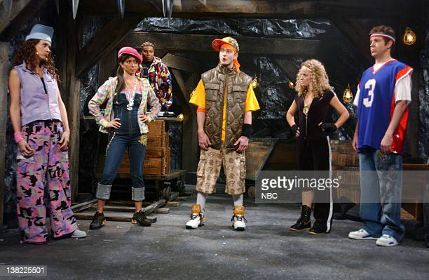 LIVE Episode 9 Aired Pictured Kristen Wiig as Keisha Maya Rudolph as JoJessica Kenan Thompson as K Smoove Justin Timberlake as TreyJ Amy Poehler as...