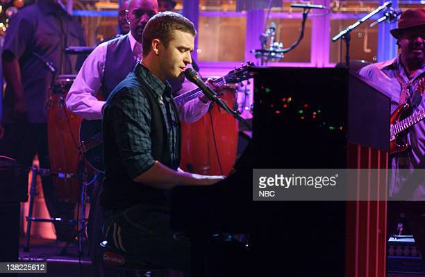 LIVE Episode 9 Aired Pictured Musical guest Justin Timberland performs on December 16 2006