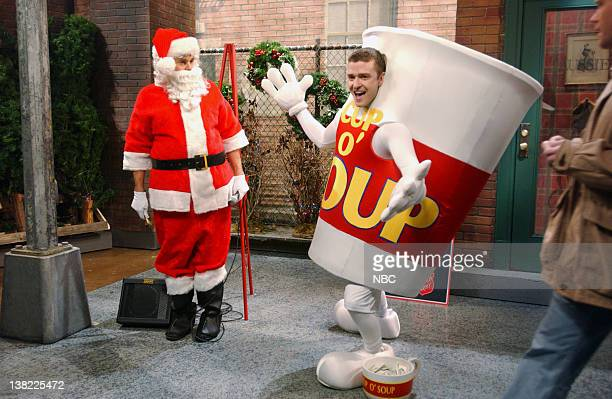 LIVE Episode 9 Aired Pictured Will Forte as spokesperson Justin Timberlake as dancing mascot during Competing Charities skit on December 16 2006