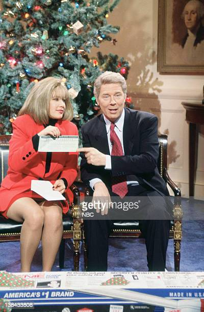 LIVE Episode 9 Aired Pictured Janeane Garofolo as Hillary Clinton Michael McKean as Bill Clinton during Gifts for the Middle Class skit on December...