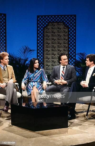 Episode 9 - Pictured: Brad Hall as Casey Fox, Julia Louis-Dreyfus as Amy Bowles, Jim Belushi as Dave Sillberger, Joe Piscopo as Rod Tenenbaum during...