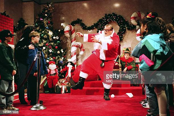 Chris Farley as Matt Foley during the 'Motivational Santa' skit on December 11 1993 Photo by Gene Page/NBC/NBCU Photo Bank