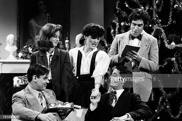 Dan Aykroyd as Clark Gable Laraine Newman was Katharine Hepburn Jane Curtin as Joan Crawford Bill Murray as Cary Grant and Elliott Gould as Archer...
