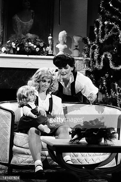 Gilda Radner as Christina Crawford and Jane Curtin as Joan Crawford during the 'Mommie Dearest' skit on December 16 1978 Photo by NBC/NBCU Photo Bank