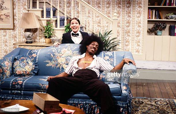 Episode 9-- Pictured: Mary Gross as Alfalfa and Eddie Murphy as Buckwheat during the 'The End of Buckwheat' skit on February 18,1984