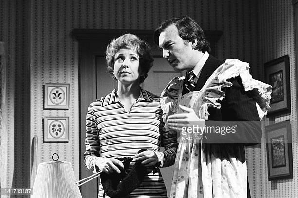 Teri Garr as Mrs Vogler Brian DoyleMurray as Howard Baker during the 'Caucus' skit on January 26 1980
