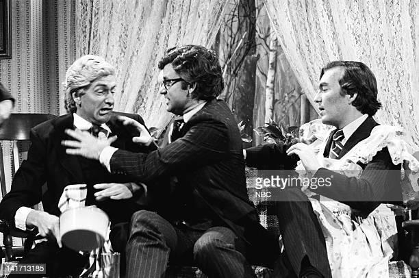 Tom Davis as John Connally Bill Murray as Ted Kennedy Brian DoyleMurray as Howard Baker during the 'Caucus' skit on January 26 1980