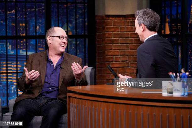 Actor James Spader during an interview with host Seth Meyers on October 22 2019