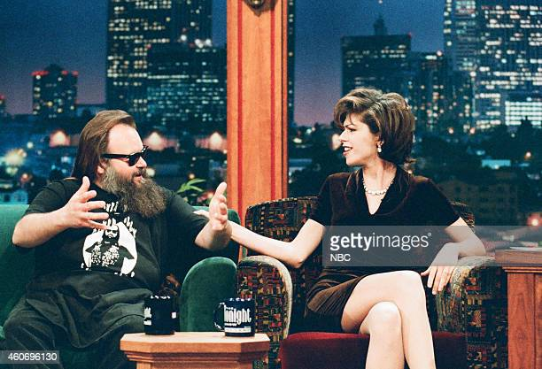Biker Billy and actrss Amy Pietz during an interview on April 15 1996