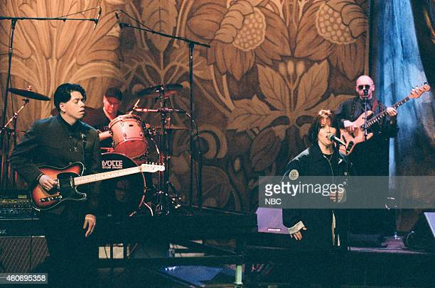 Musical guest Jann Arden performs on April 16 1996