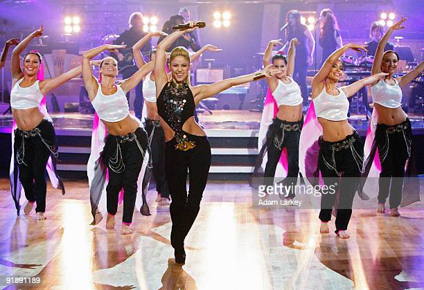 SHOW Episode 904A Shakira took to the Dancing with the Stars stage with her hit Hips Don't Lie from her second Englishlanguage album Oral Fixation...