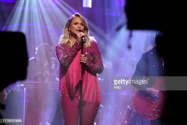 Episode 906 -- Pictured: Musical guest Miranda Lambert performs on October 31, 2019 --