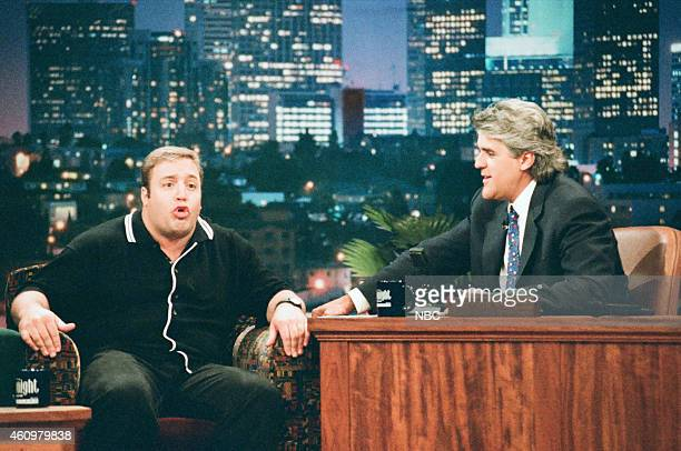 Comedian Kevin James during an interview with host Jay Leno on April 25 1996
