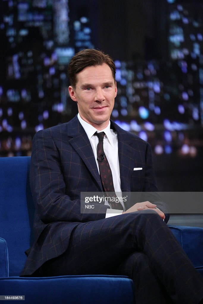 Actor Benedict Cumberbatch during an interview on October 11, 2013 --