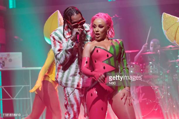 Musical guests Tyga Doja Cat perform on November 11 2019