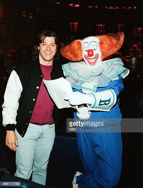 Announcer Edd Hall and Joey D'Auria as Bozo the Clown during rehearsal on May 1 1996