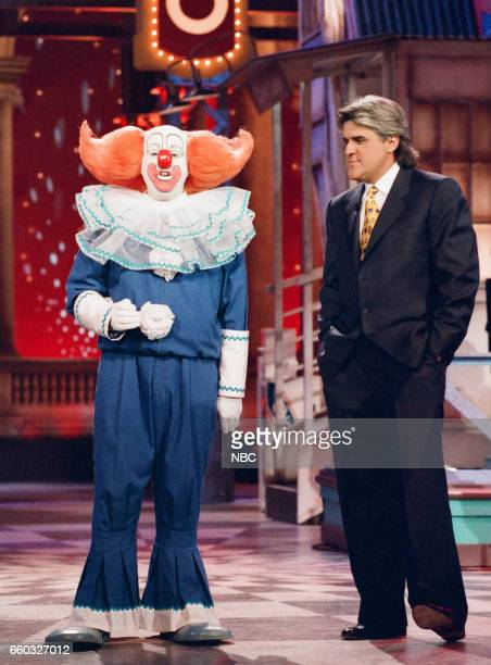 Bozo the Clown making an appereance with Host Jay Leno on May 1st 1996