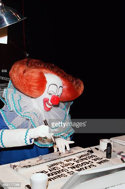Joey D'Auria as Bozo the Clown backstage on May 1 1996
